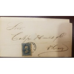 O) 1874 MEXICO, HIDALGO OVERPRINTED WITH DISTRIC OAXACA AND NUMBER- SC 109, XF