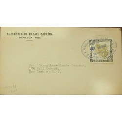 O) 1947 NICARAGUA, PROJECTED PROVINCIAL SEMINARY 10c - FOUNDING OF THE CITY OF MANAGUA, SUCESORES DE RAFAEL CABRERA, TO USA