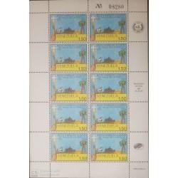 O) 1985 VENEZUELA, VALLE DE LA PASCUA - CITY -SC 1332. LANDSCAPE - HORSE -CAR . TREE, MNH