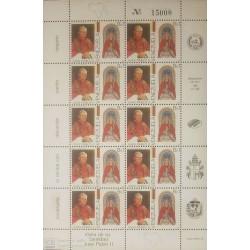O) 1985 VENEZUELA, POPE JOHN PAUL II STATUE OF THE VIRGIN OF CARACAS - SC 1331- MNH