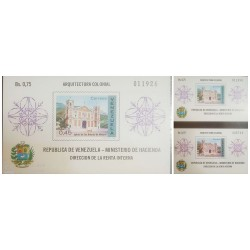 O) 1970 VENEZUELA, COLOR VARIETY, COLONIAL ARCHITECTURE, - ST ANTHONY´S MATURIN SC 960 SOLD FOR 75c, MNH