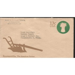 J) 1976 UNITED STATES, MASONIC GRAND LODGE, BICENTENNIAL ERA THE AMERICAN FARMER, CHAIR