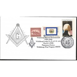 J) 1999 UNITED STATES, MASONIC GRAND LODGE, MOUNT VERNON, BICENTENNIAL, GEORGE WASHINGTON