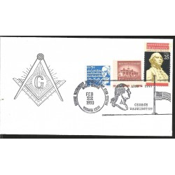 J) 1999 UNITED STATES, MASONIC GRAND LODGE, MOUNT VERNON, BICENTENNIAL E XCECUTIVE BRANCH