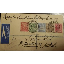 O) 1897 CIRCA - CAPE OF GOOD HOPE, LIBERTY, KING EDWAR VII, REGISTERED - AIRMAIL PER LUGPOST