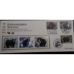 O) 2004 UNITED NATIONS, ENDANGERED SPECIES - LIMITED EDITION - BEARS, FDC XF