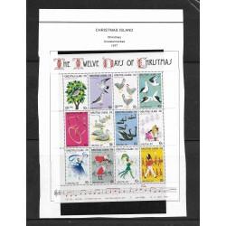 O) 1977 CHRISTMAS ISLAND, CHRISTMAS 1977 - TWELVE CHRISTMAS -PARTRIDGE - TURTE DOVES - FRENCH HENS - CALLING