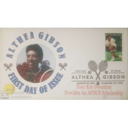 V) 2013 USA, ALTHEA GIBSON, TENNIS PLAYER, WITH SLOGAN CANCELATION IN BLACK, FDC