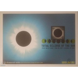 V) 2017 USA, TOTAL ECLIPSE OF THE SUN, FOREVER STAMPS, FDC