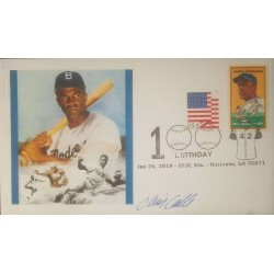 V) 2019 USA, 100TH BIRTHDAY, JACKIE ROBINSON, BASEBALL PLAYER, WITH SLOGAN CANCELATION IN BLACK, FDC