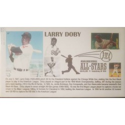 V) 2012 USA, LARRY DOBY, FOREVER, ALL STARS, MAJOR LEAGUE BASEBALL, FOREVER STAMPS, WITH SLOGAN CANCELATION IN BLACK, FDC