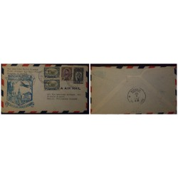 J) 1935 MEXICO, SYMBOL OF AIR SERVICE, CAMPAIGN AGAINST MALARIA, MULTIPLE STAMPS, CIRCULATED COVER