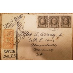 O) 1928 UNITED STATES - USA, POSTAGE DUE - SPECIAL DELIVERY, NATHAN HALE SC 551 1/2c, SPECIAL DELIVERY MESSENGER SC E2, FROM