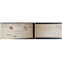 O) 1900 PHILIPPINES, US OCCUPATION, SOLDIER LETTER - POSTAGE DUE - PENALTY FOR PRIVATE - WAR DEPARTMENT - OFFICIAL