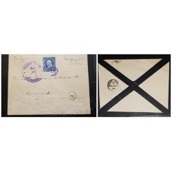 O) 1898 PHILIPPINES, MORTUARY LETTER, SPANISH AMERICAN WAR, RARE DESTINATION AND TRANSIT TO HONG KONG, RARE USAGE