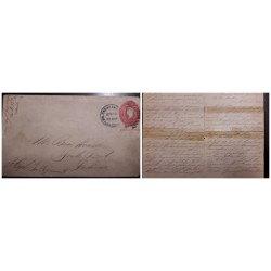 O) 1900 CIRCA- PHILIPPINES - USS OCCUPATION, COMPLETE LETTER, WASHINGTON 2c POSTAL STATIONERY - STATIONARY, TO INDIANA