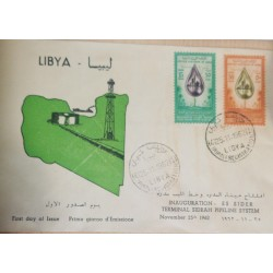 O) 1962 AFRICA, DROP OIL WITH NEW CITY DESERT, OIL WELLS - COAST LINE, OPENING OF THE ESSIDER , SIDRAH PIPELINE SYSTEM