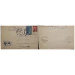 O) 1936 CANAL ZONE, US OCCUPATION,HAMBURG AMERICA LINE ENVELOPE, GAILLARD CUT SC 107 5c, MAJ. GEN. GEORGE WASHINGTON