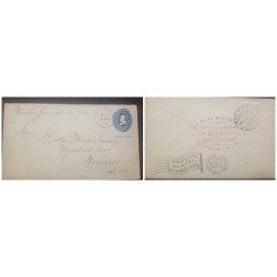 O) 1903 PUERTO RICO, US OCCUPATION, PONCE P.R CANCELLATION, RECEIVED REVERSE MEXICO DF, POSTAL STATIONERY ULYSSES GRANT 5c