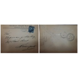 O) 1889 PUERTO RICO - PORTO RICO - US OCCUPATION, ULYSSES GRANT 5c, MILITARY STATION, FROM PONCE P.R TO NEW YORK