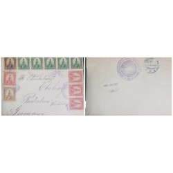 O) 1903 EL SALVADOR - CHALATENANGO, MORAZAN 10c - 1c - 2c -  3c, OFFICIAL MAIL GOBERNACION CHALATENANGO, TO GERMANY
