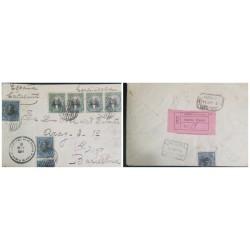 O) 1914 EL SALVADOR, RAFAEL CAMPO SC 405 6c, JOSE MATIAS DELGADO SC 402 1c, REGISTERED FROM SANTA ELENA CERTIFICATE