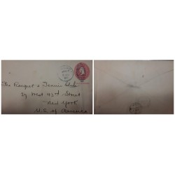 O) 1901 PHILIPPINES, FROM MANILA P.I., WASHINGTON 2c POSTAL STATIONERY - STATIONARY, TO NEW YORK - USA