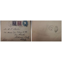 O) 1898 UNITED STATES - USA, JACKSON 3c, GARFIELD 6c, POSTAL STATIONERY - STATIONARY, CHICAGO, IL TO ITALY, PRINTED MATTER RATE
