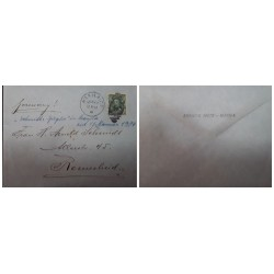 O) 1904 PHILIPPINES - MANILA, US OCCUPATION, FRANKLIN 1c, PHILIPPINES SURCHARGE, ENRIQUE SPITZ, TO REMSCHEID - GERMANY