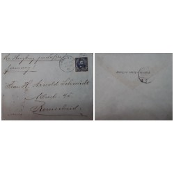 O) 1903 PHILIPPINES - MANILA P.I, VIA HONG KONG VIA ZAFIRO, TO REMSCHEID, ULYSSES GRANT 5c, XF