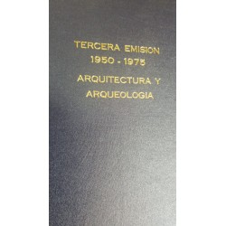 O)  BOOK THIRD ISSUE 1950 1975 ARCHITECTURE AND ARCHEOLOGY - TERCERA EMISION 1950 1975 ARQUITECTURA Y ARQUEOLOGIA, XF