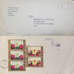 O) 1910 SWEDEN, ARMS SCOTT A13, GUSTAF V. SCOTT A14, MULTIPLE COVER TO USA, XF
