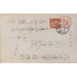 J) 1922 JAPAN, WAR FACTORY GIRL, AIRMAIL, CIRCULATED COVER, FROM JAPAN