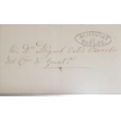 O) 1871 GUATEMALA - ANTIGUA GUATEMALA - DILIGENCIAS ROBLES CANCELLATION, EX CASTILLEJOS, XF