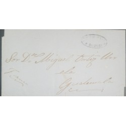O) 1860 GUATEMALA, - EX ANTIGUA GUATEMALA,  DILIGENCIAS ROBLES CANCELLATION, TO FRANCE, XF