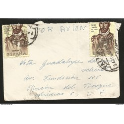 J) 1963 SPAIN, DIEGO GARCIA DE PAREDES, AIRMAIL, CIRCULATED COVERR, FROM SPAIN TO MEXICO