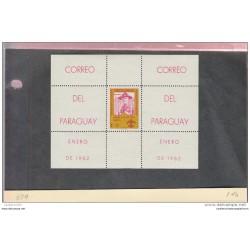 O) 1962 PARAGUAY, LORD BADEN POWELL - BOY SCOUTS - SOUVENIR MNH