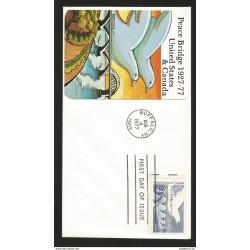 J) 1977 UNITED STATES, PEACE BRIDGE 1927-77, FDC
