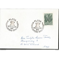 J) 1973 SWEDEN, PLANTS, CIRCULAR CANCELLATION SCOUT, CIRCULATED COVER, FROM SWEDEN