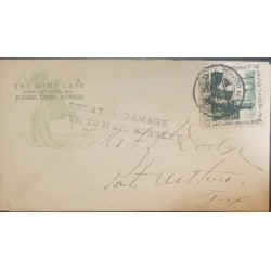 O) 1940 MEXICO, ROBBERY MAIL . DELAY AND DAMAGE DUE TO MAIL ROBBERY, ANNIVERSARY OF CAMPECHE SC C112 40c- LIGHTHOUSE