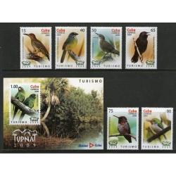 RO) 2009 CARIBBEAN, BIRDS - COLAPTES - TORREORNIS - FERMINIA - ARATINGA - MELLISUGA - TODUS - TURNAT - TOURISM - LANDSCAPE, MNH