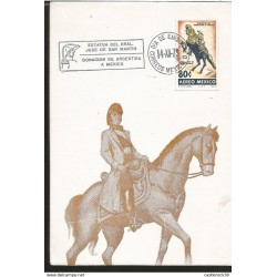 J) 1973 MEXICO, DONATION FROM ARGENTINA TO MEXICO FROM THE SCHOOL OF GENERAL SAN MARTIN, HORSE