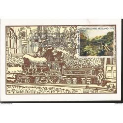 J) 1973 MEXICO, COURTESY OF THE JOURNAL OF RAILWAYS OF MEXICO, GUTEMBERG POSTCARD