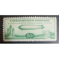 O) 1933 UNITED STATES - USA, GRAF ZEPPELIN, CENTURY OF PROGRESS ISSUE - AIRSHIP GRAF ZEPPELIN FLIGHT TO MIAMI, AKRON AND CHICAGO