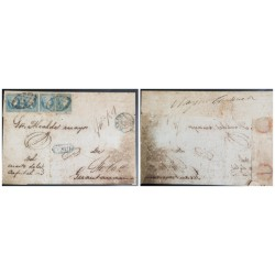 O) 1901 CARIBBEAN, SPANISH DOMINION, QUEEN ISABELLA II 1/2r p, CERTIFIED MUTE AND CIRCLE CANCELATION, TO GUANTANAMO