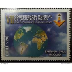 O) 2004 CHILE, GRAND MASONIC LODGES -SEVENTH WORLD CONFERENCE, MNHO) 2004 CHILE, GRAND MASONIC LODGES -SEVENTH WORLD