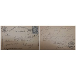 O) 1887 MEXICO, MIGUEL HIDALGO 5c, FROM CUERNAVACA, INTERNAL SERVICE, POSTAL STATIONERY - STATIONARY, XF