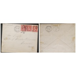 O) 1899 PHILIPPINES ISL´DS, US OCCUPATION, MILITARY STATION, WORCESTER MASS RECEIVED, XF