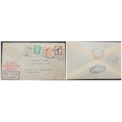 O) 1932 GERMANY, LYON MARSSEILLE AVION, PAR AVION FRANCE AMERIQUE DO SUD AEROPOSTALE, MIT LUFTPOST, HERM. STOLTZ -HAMBURG