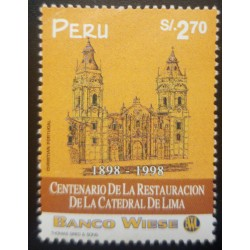 O) 1998 PERU, ARCHITECTURE. RESTORATION OF THE CATHEDRAL OF LIMA, SC 1186, BANCO WIESE, MNH
